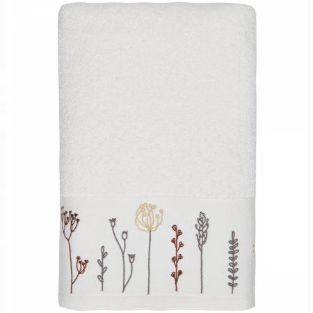 drap-de-douche-70x140cm-brode-floriales-écru-maison-et-cadeaux