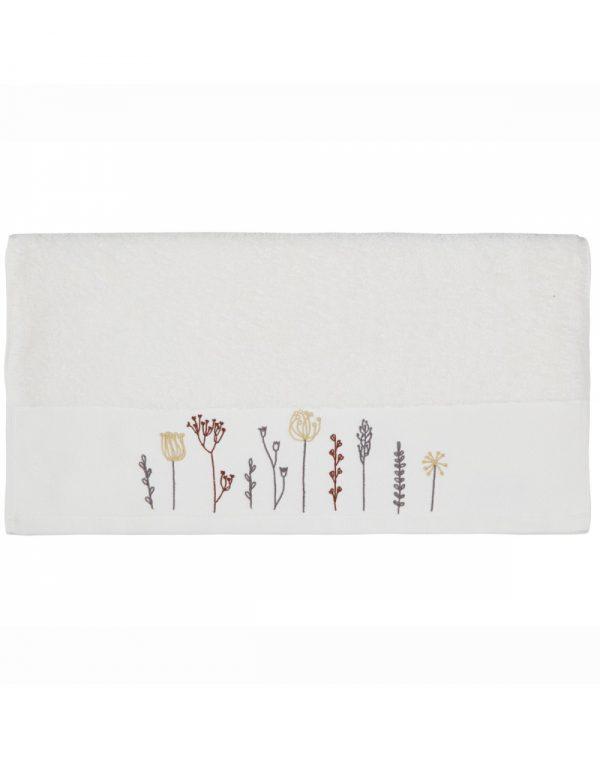 serviette-de-toilette-50x100cm-brodee-floriales-écru-maison-et-cadeaux