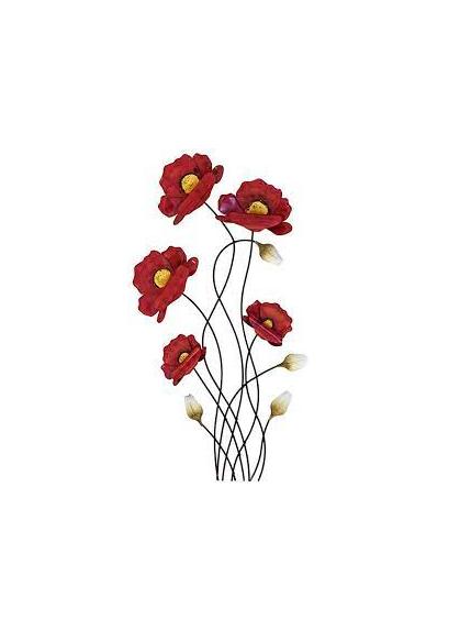 coquelicot-rouge-murale-métal-maison-et-cadeaux.png